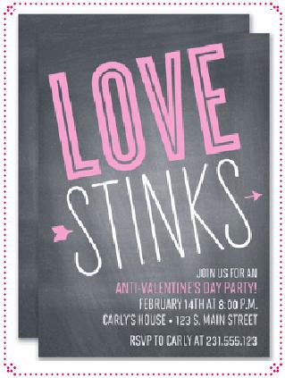 Anti ValentineS Day Invite  Google Search  ValentineS Day Bar