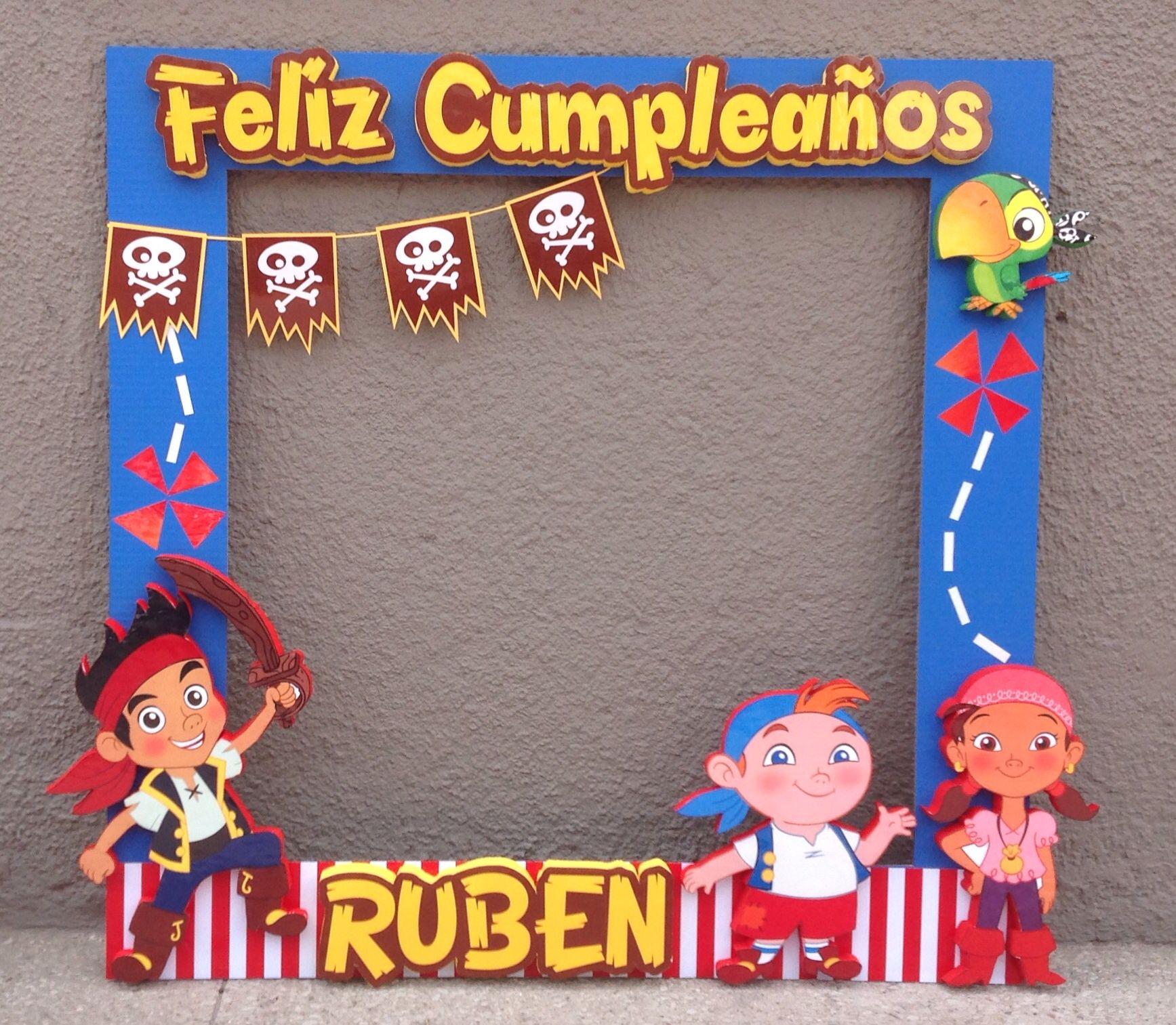 marco de fotos de jake el pirata | Fiesta infantil | Pinterest ...
