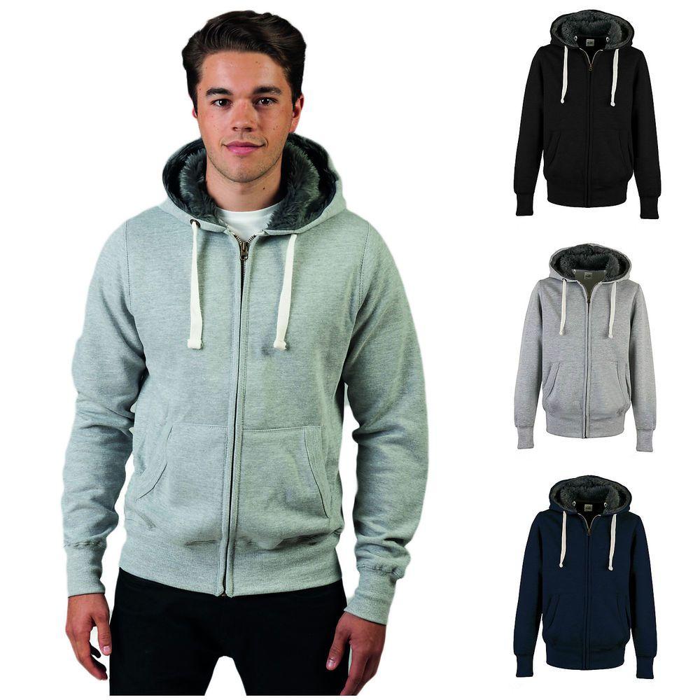 mens hoodie with fur inside