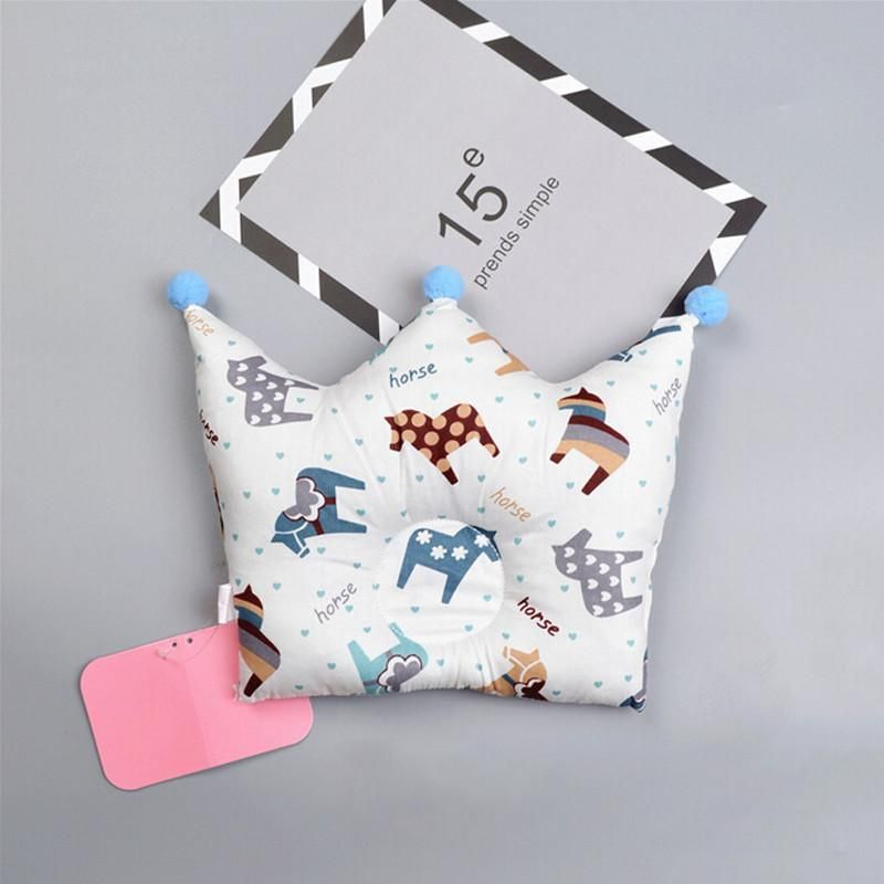 Baby shaping pillow prevent flat head with crown shape 49