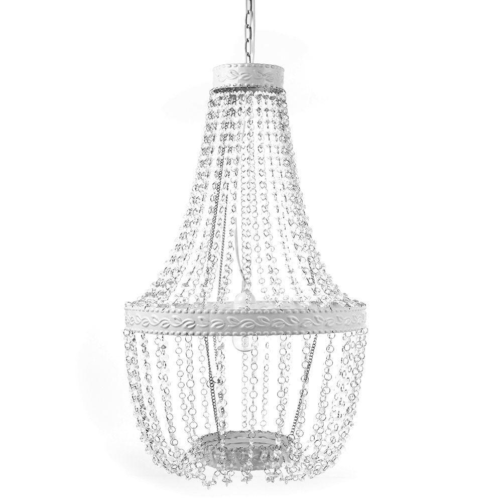 Tadpoles 1 light white diamond beaded chandelier beaded chandelier tadpoles 1 light white diamond beaded chandelier arubaitofo Image collections
