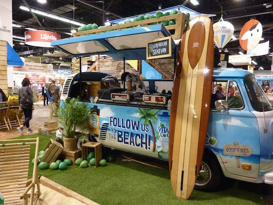 Vita Coco Van Expo West 2016 Booth Trade Show To Go Pinterest