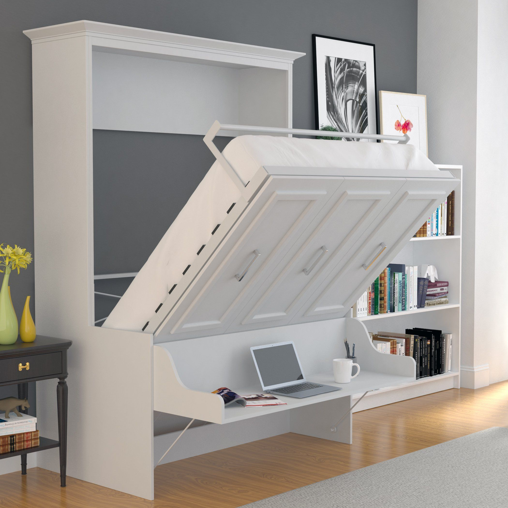 Queen Murphy Bed With Desk Shop for beautiful, white