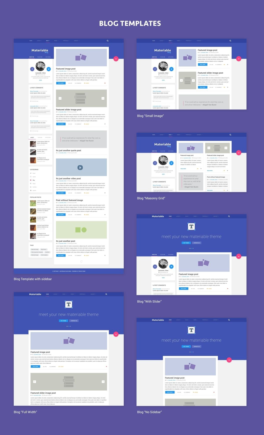 Materiable Is A Clean And Modern Designed Psd Template For Multi