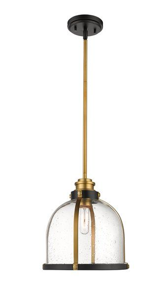 Z Lite Burren 12 In Bronze And Br 1 Light Pendant 337p12brz Rona
