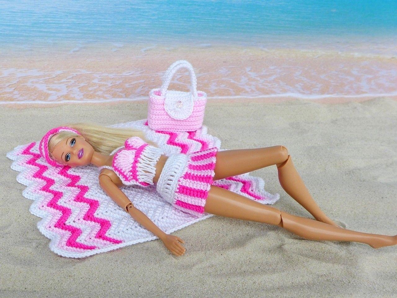 Strandmode für kleine Puppen - 6 Häkelanleitungen - Fotos und ...