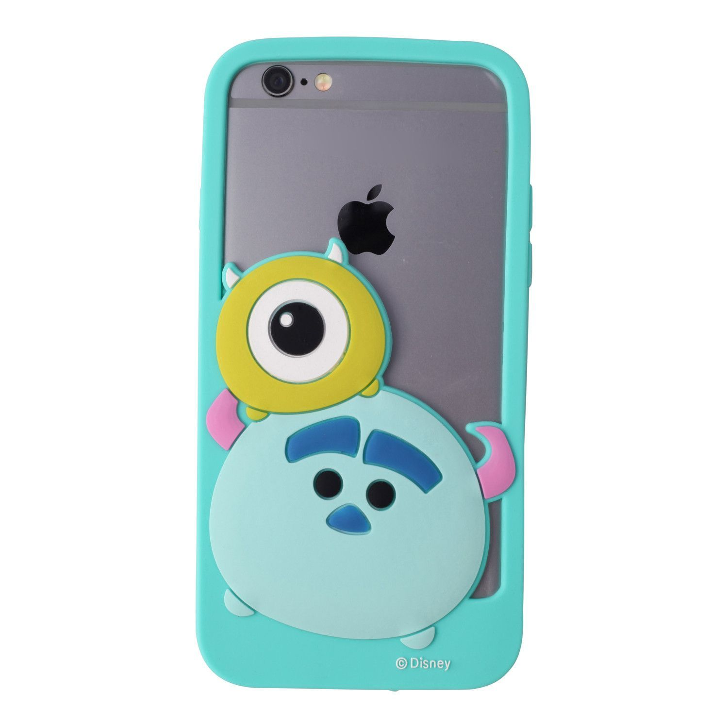 This Soft And Flexible Silicone Bumper Phone Case Features Mike And Sulley Stacked On Each Other In Classic Tsum Tsum Style With Images Cute Phone Cases Disney Phone Cases