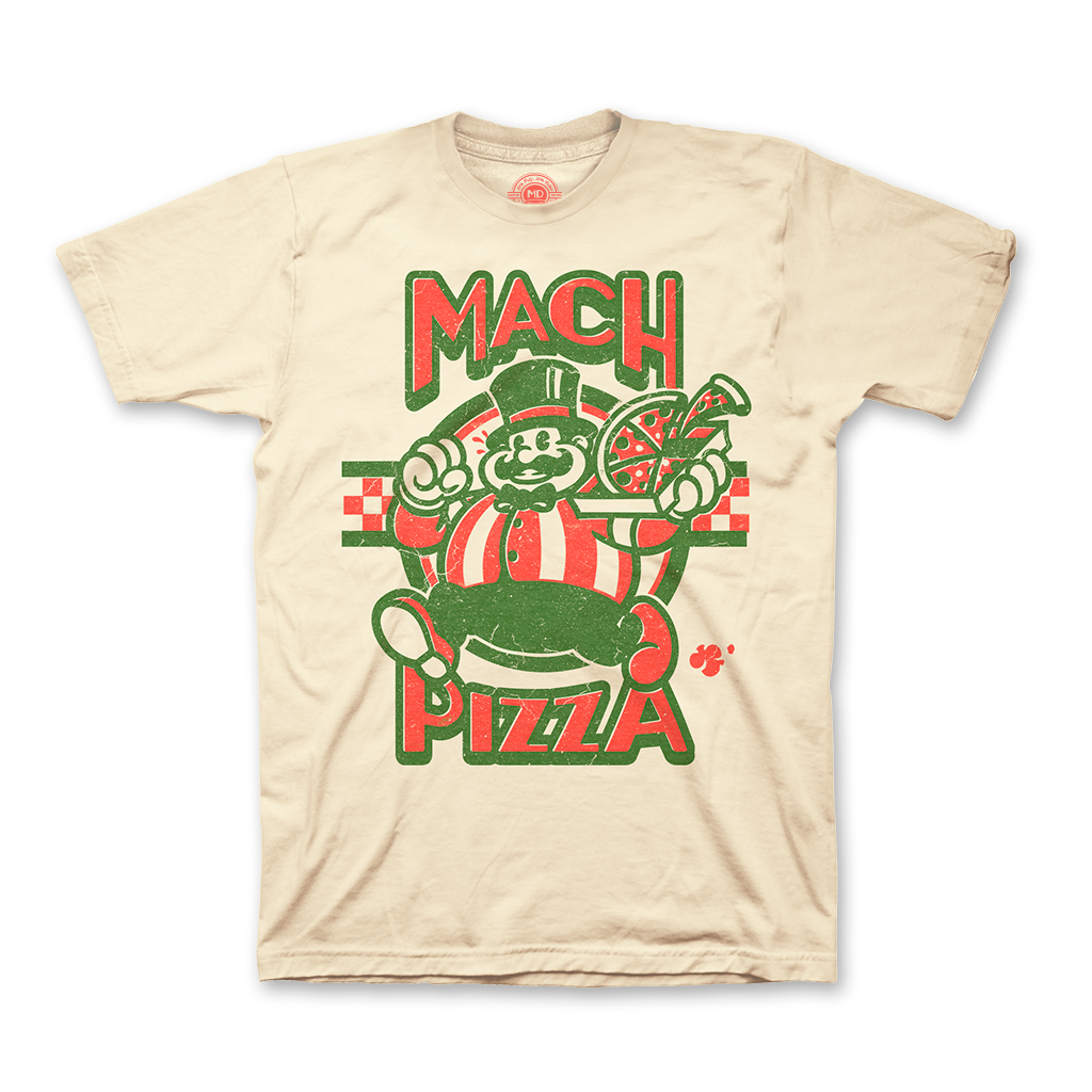 Earthbound Mach Pizza t-shirt $23.00 from Fangamer
