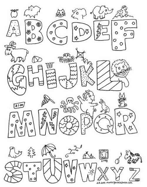 Free Printable Alphabet Templates Alphabet Letters Black And White