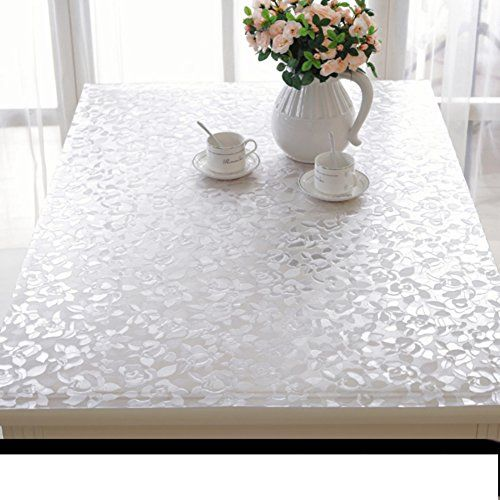 Tablecloth Pvc Table Cloth Transparent Soft Glass Waterproof Oil Resistant Table Tablecloth Plastic Table Mat Disposable Tea Table Plastic Tables Table Cloth