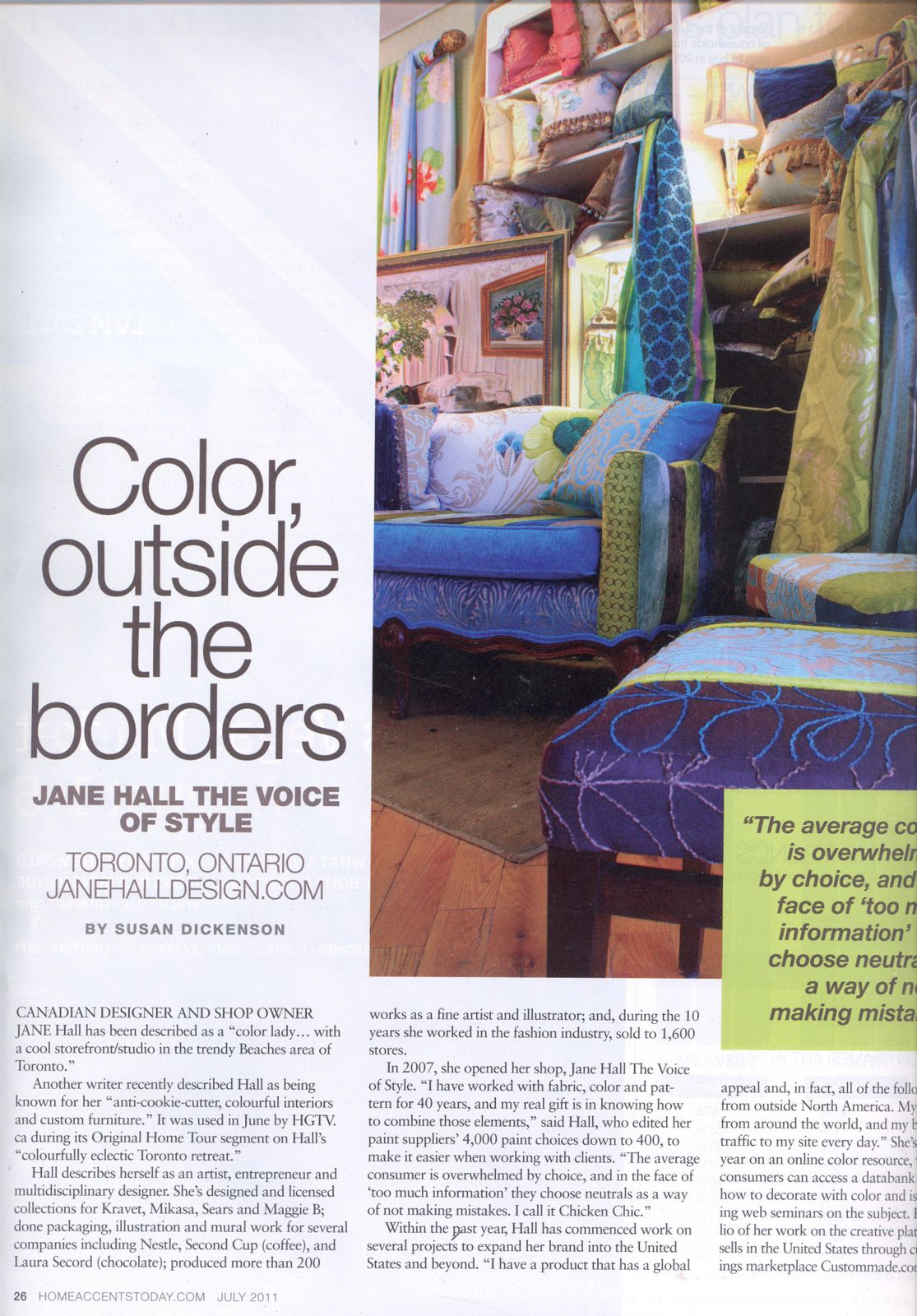 Feature in Home Accents Today.