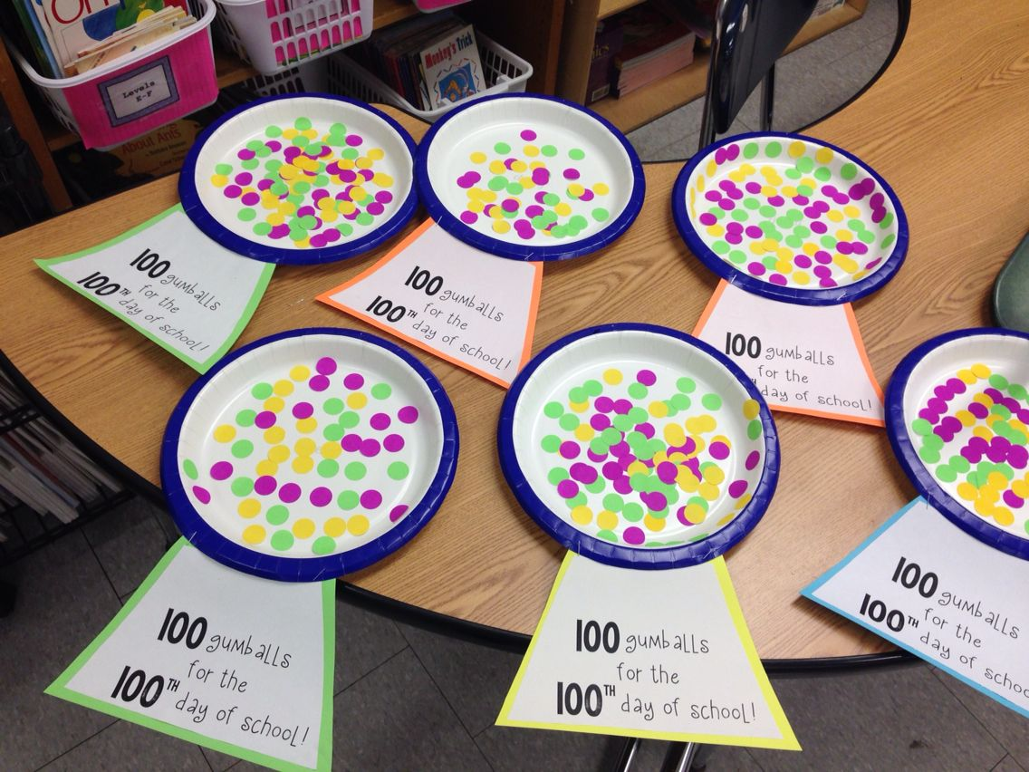 Gumball Machine For The 100th Day Of School