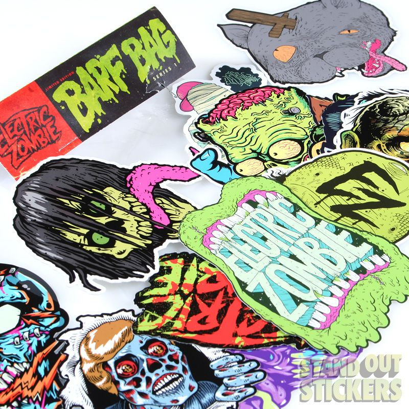Custom sticker pack for electric zombie