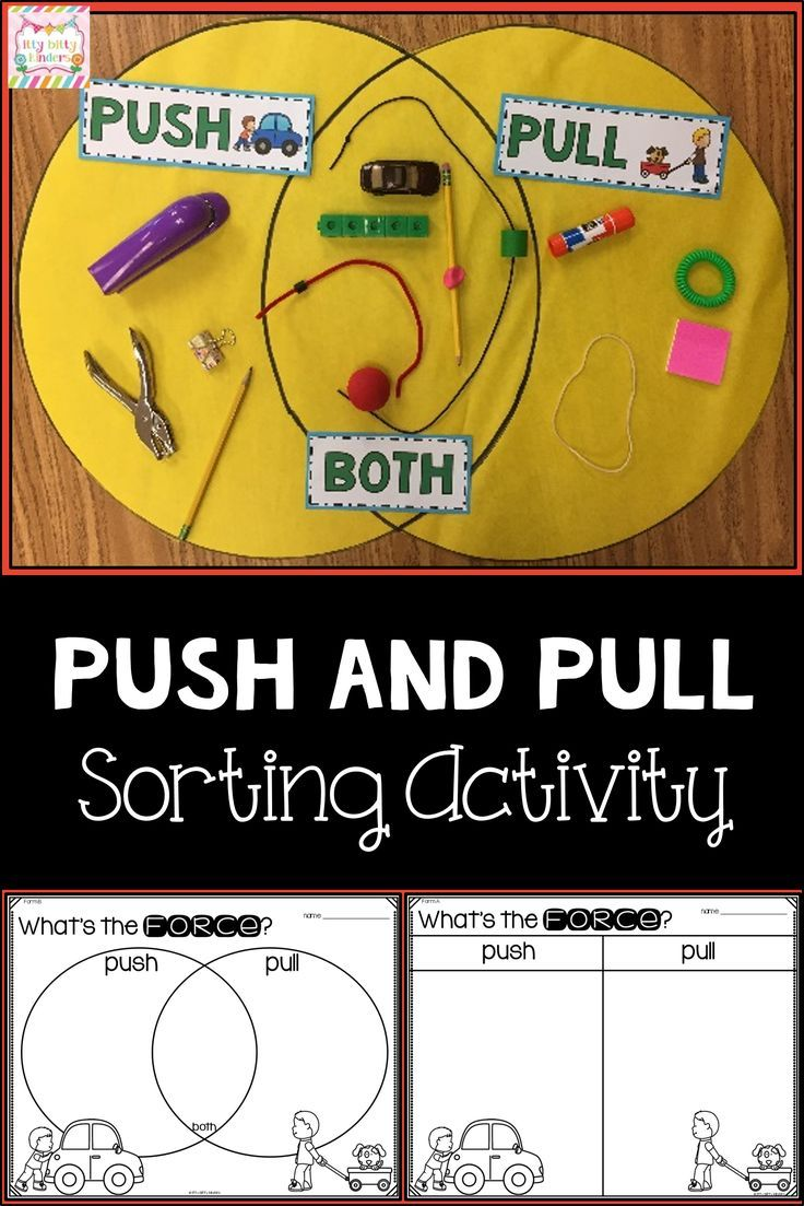 Force and Motion Push and Pull Venn Diagram