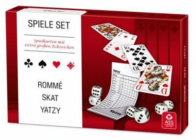 Senioren Spieleset - Romme/ Skat/ Yatzy mit extra großen Eckzeichen