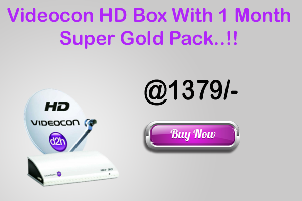 Videocon D2h Hd Box with 1 month pack and best offer!! | Videocon