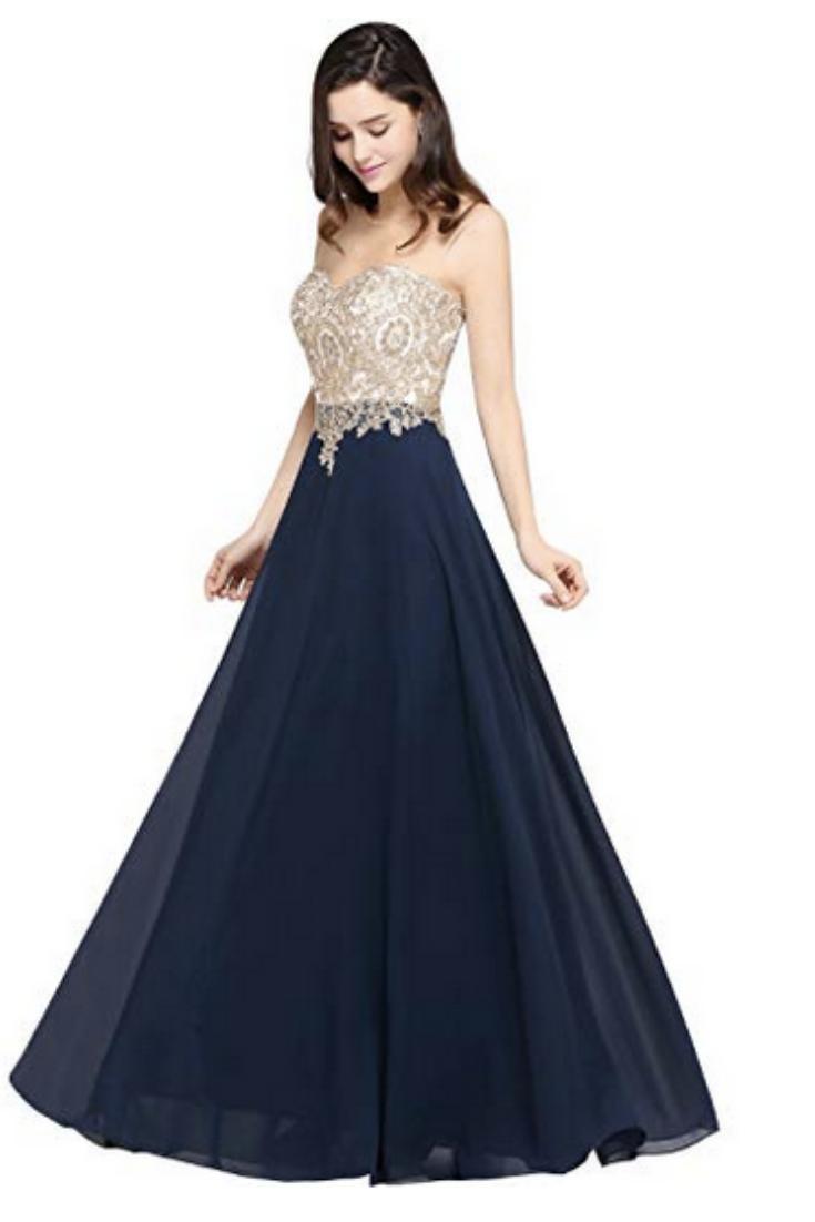 17-17 NEU Damen Ballkleider Abendkleider Brautjungfernkleid