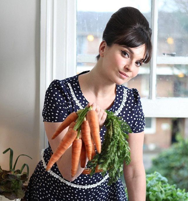 Image result for celebrities eating carrots