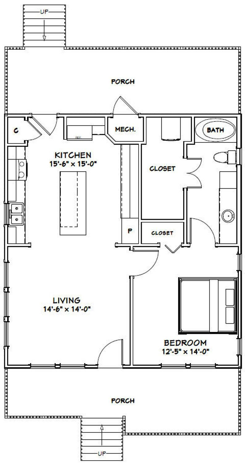 28x30 House 1 Bedroom 1 Bath 840 Sq Ft Pdf Floor Plan Etsy In 2021 Tiny House Floor Plans Small House Floor Plans Tiny House Plans