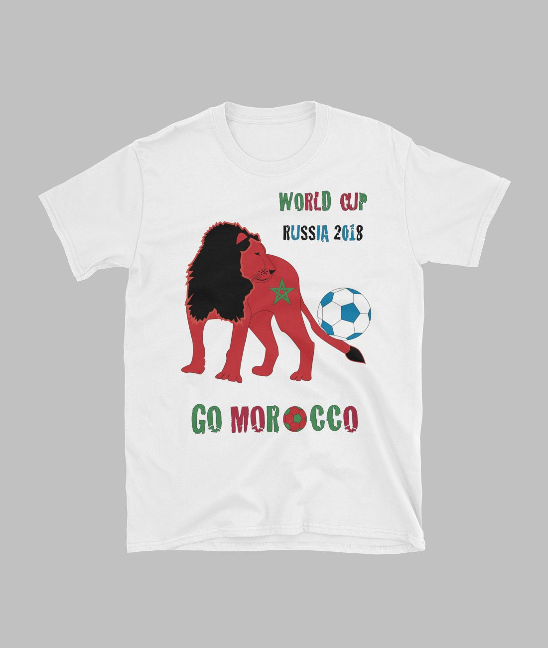 Moroccan supporters T shirt with lion