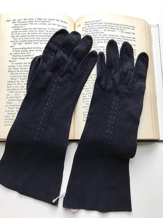 8d349e81a Formal Gloves, Vintage Gloves, 1960s, Long Black Gloves, 60s Gloves, Black,  Size Medium, Womens Gloves, Ladies Gloves, Driving Gloves