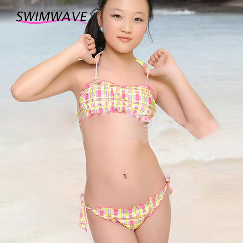 3c515e51bd Find More Children's Two-Piece Suits Information about Girl Swim Wear Two  Piece Child Swimsuit