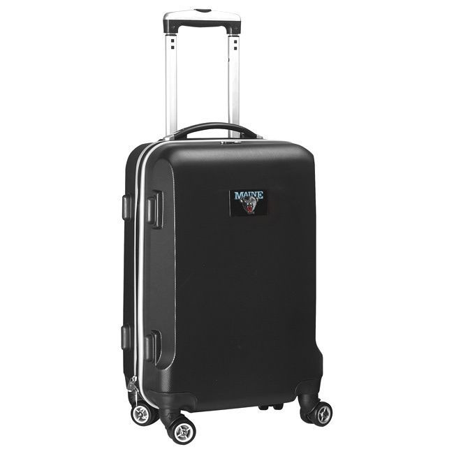 Denco Sports Ncaa Maine Bears 20-inch Hardside Carry-on Spinner Upright Suitcase