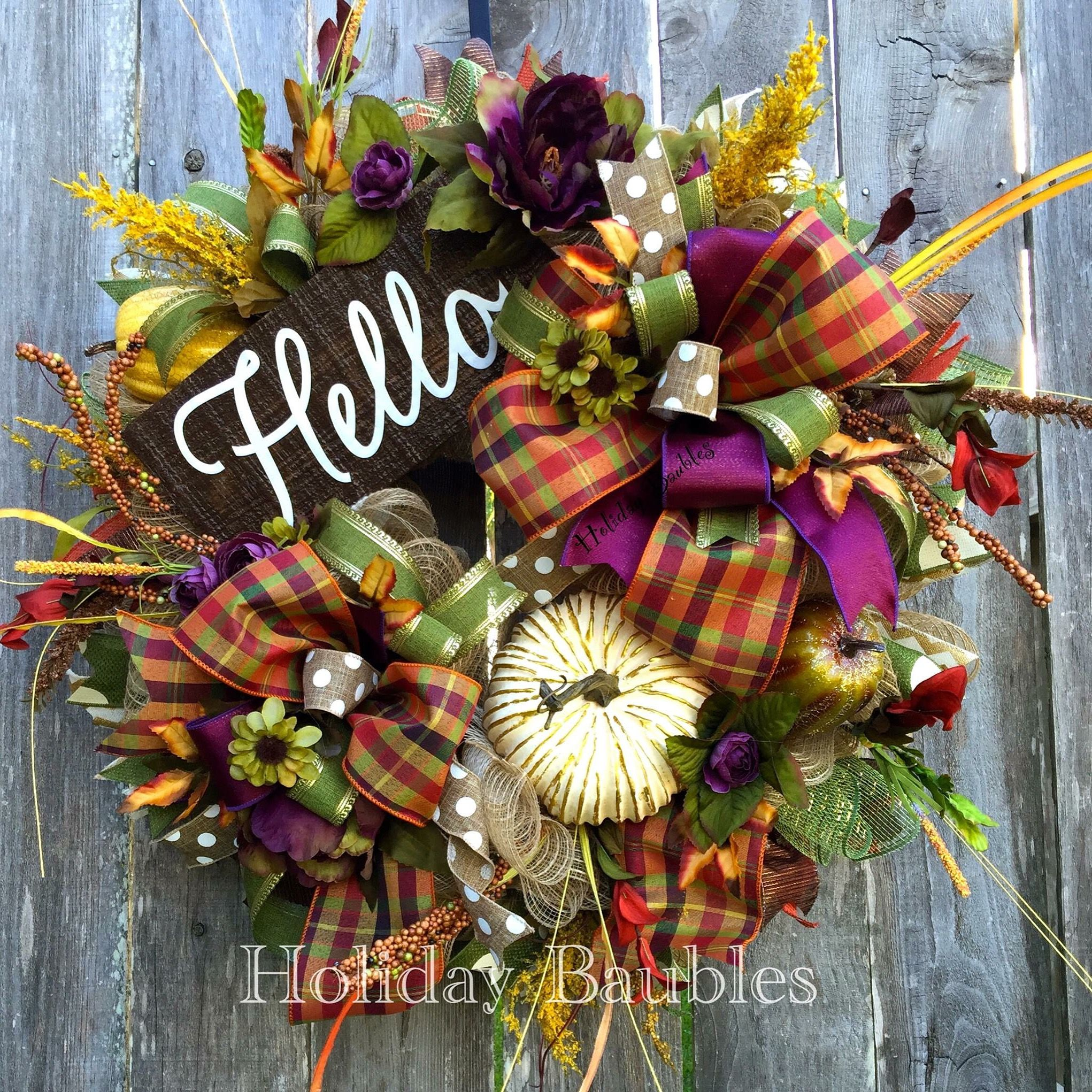 Decorazioni Per L Autunno hello fall by holiday baubles (con immagini) | ghirlande