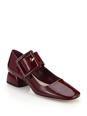 newest online free shipping geniue stockist Miu Miu Squared-Toe Leather Ballet Flats buy cheap cheapest price outlet view outlet browse BzShLsZM