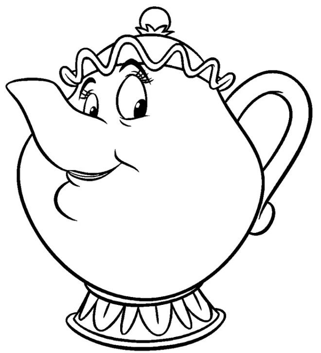 Free Beauty And The Beast Coloring Pages With Images Disney