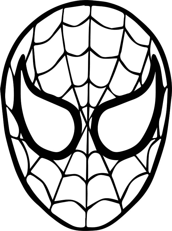 How To Draw Spider Man Face Drawing For Kids Spiderman Face Spiderman Coloring Spiderman Drawing