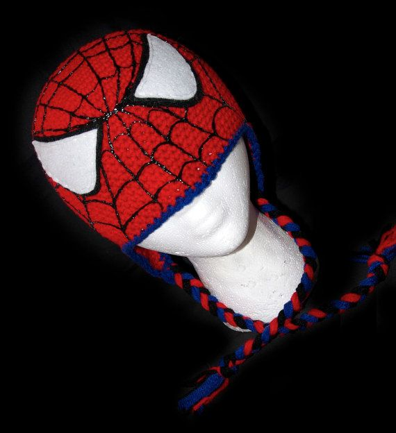 Spiderman Beanie with Earflaps We are no by perfectfitcrochet ...
