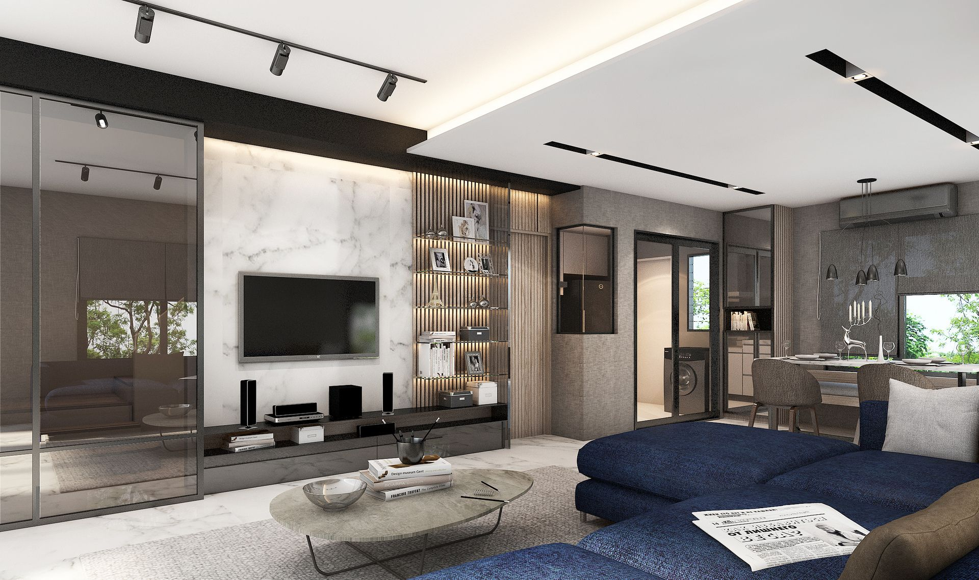 Modern Living Room  Ratio Design Firm