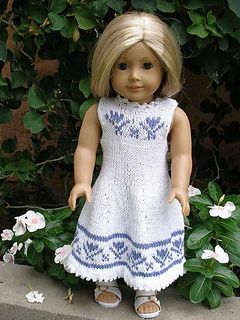 "American Girl 18"" doll Summer Dress with Short Sleeved Cardigan by Ase Bence"