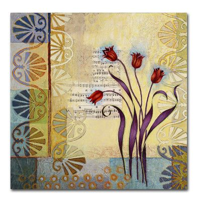 "Trademark Art 'Sandy Pond Flowers' by Rachel Paxton Painting Print on Wrapped Canvas Size: 35"" H x 35"" W x 2"" D"