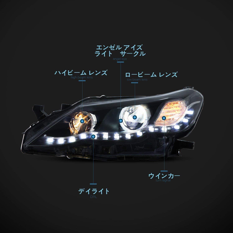 Useka トヨタ マークx 130 前期 用 改装 ヘッドライト ヘッドランプ 左右セット新品 2011 2012 Led For Toyota Reiz Led Head Lights Lamps Vland Carlamp Headlights Toyota Rei ヘッドランプ トヨタ ヘッドライト