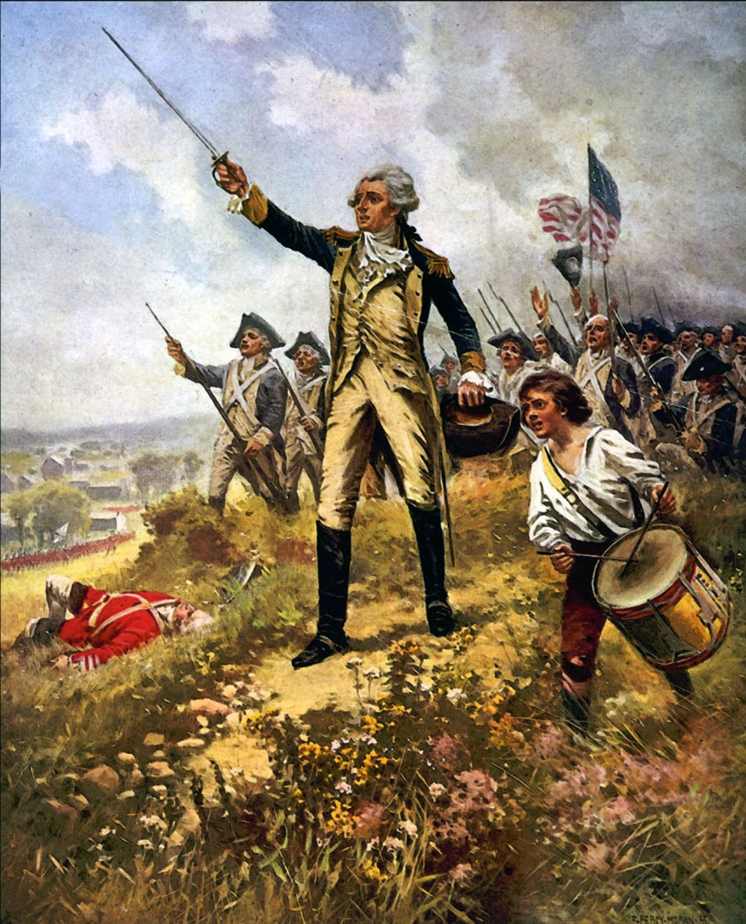 Lafayette S Baptism Of Fire American Revolutionary War American Revolution American War Of Independence