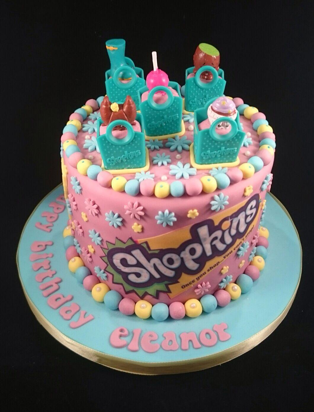 Shopkins Themed 6 Inch Tall Chocolate Cake Birthday