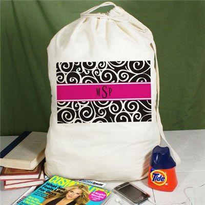 Monogrammed Laundry Bag Monogram Bags Cotton Bag