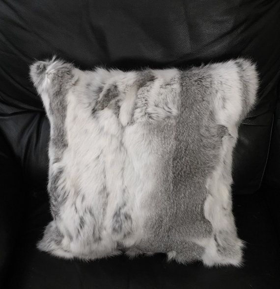 Beautifur real Rabbit Fur Throw Pillow Cushion by Beautifur2014