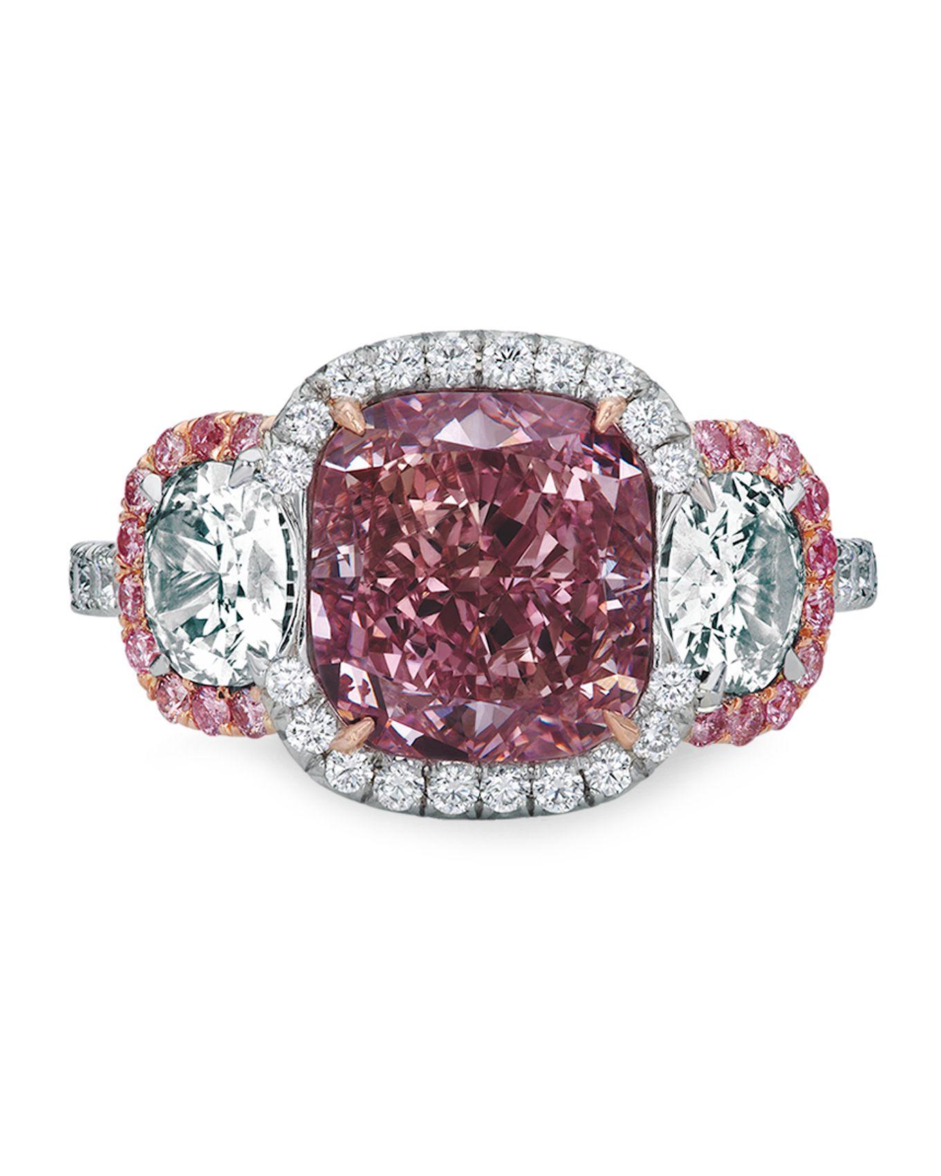Fancy Intense Purplepink Diamond Ring