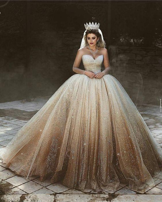 Robes De Mariee Style Princesse Qui Font Rever De Font Mariee Princesse Font Marie Wedding Dress Sequin Ball Gowns Wedding Ball Gown Wedding Dress