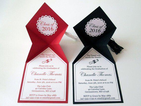 Invitaciones Para Graduación Con Moldes Invitaciones De
