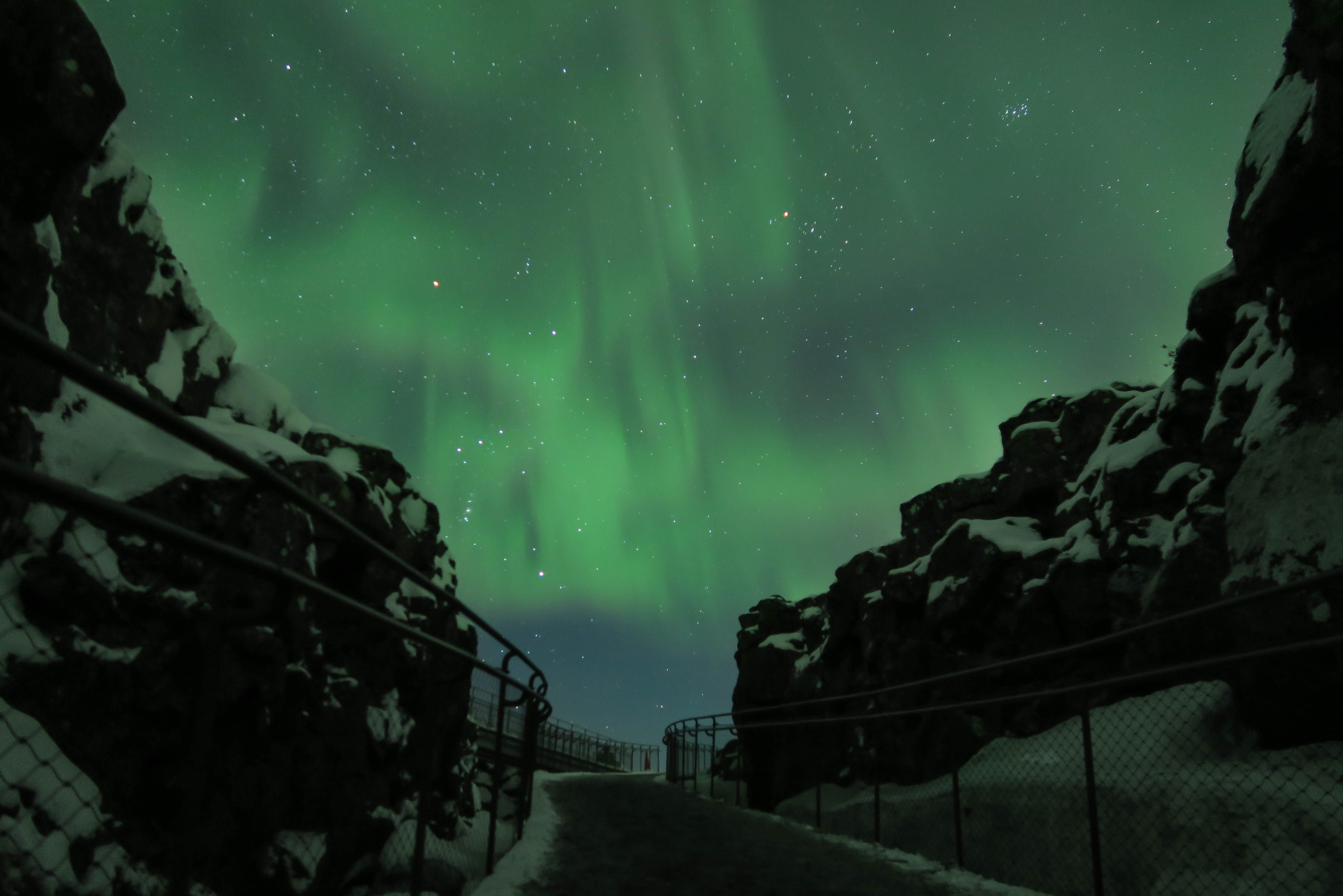 Photo highlight of the day chosen by the Guardian. Amazing photo of the Northen lights in Iceland. Photographer is Víðir Björnsson.