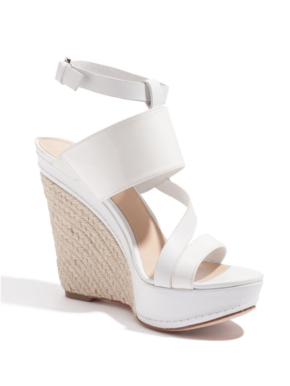 Amazon com guess by marciano polly wedge shoes white wedge