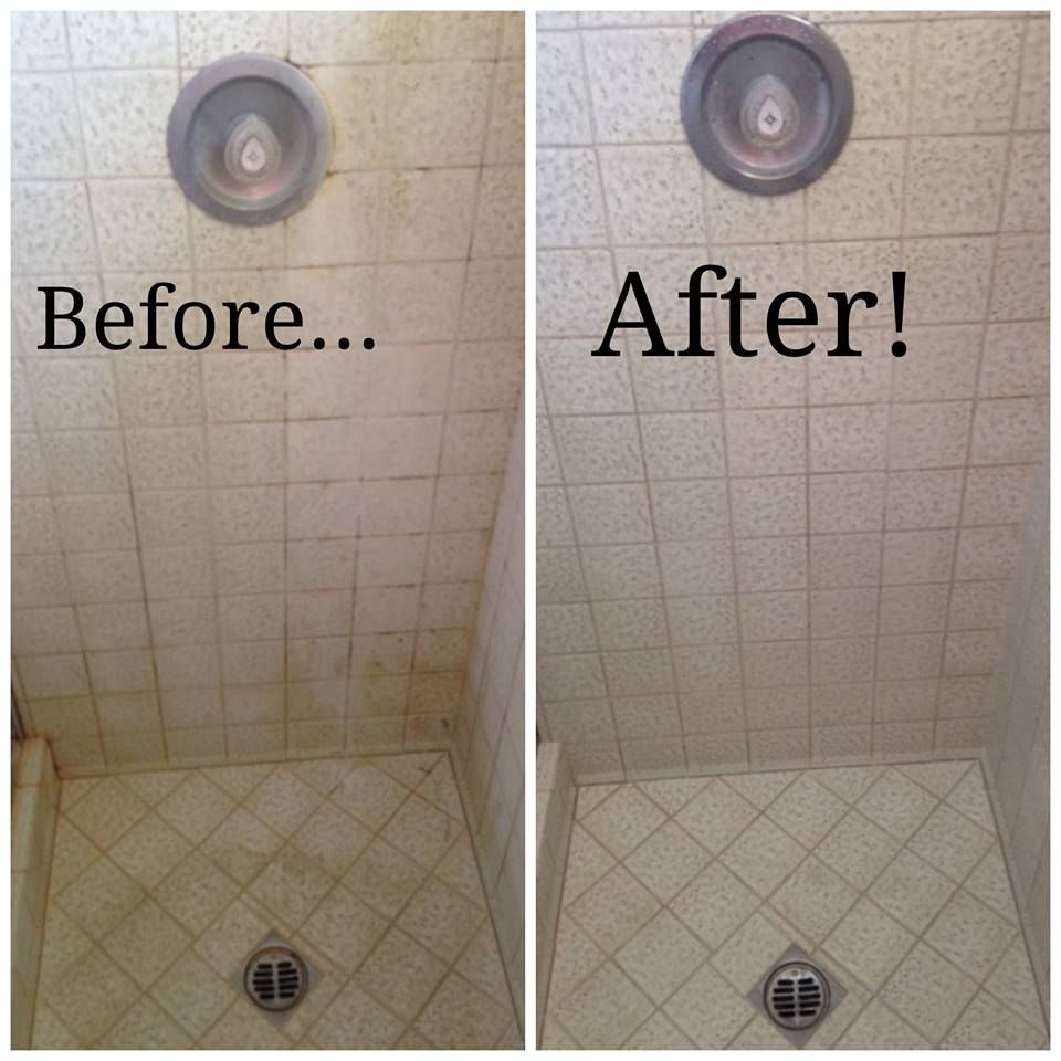 Before And After Shower Tile Cleaning For San Diego Stanley