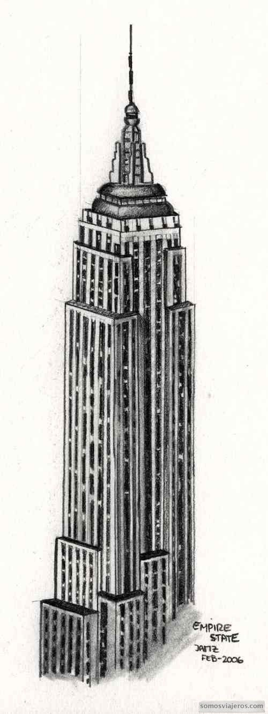 Dibujo empire state building Nueva York  My drawings  Pinterest