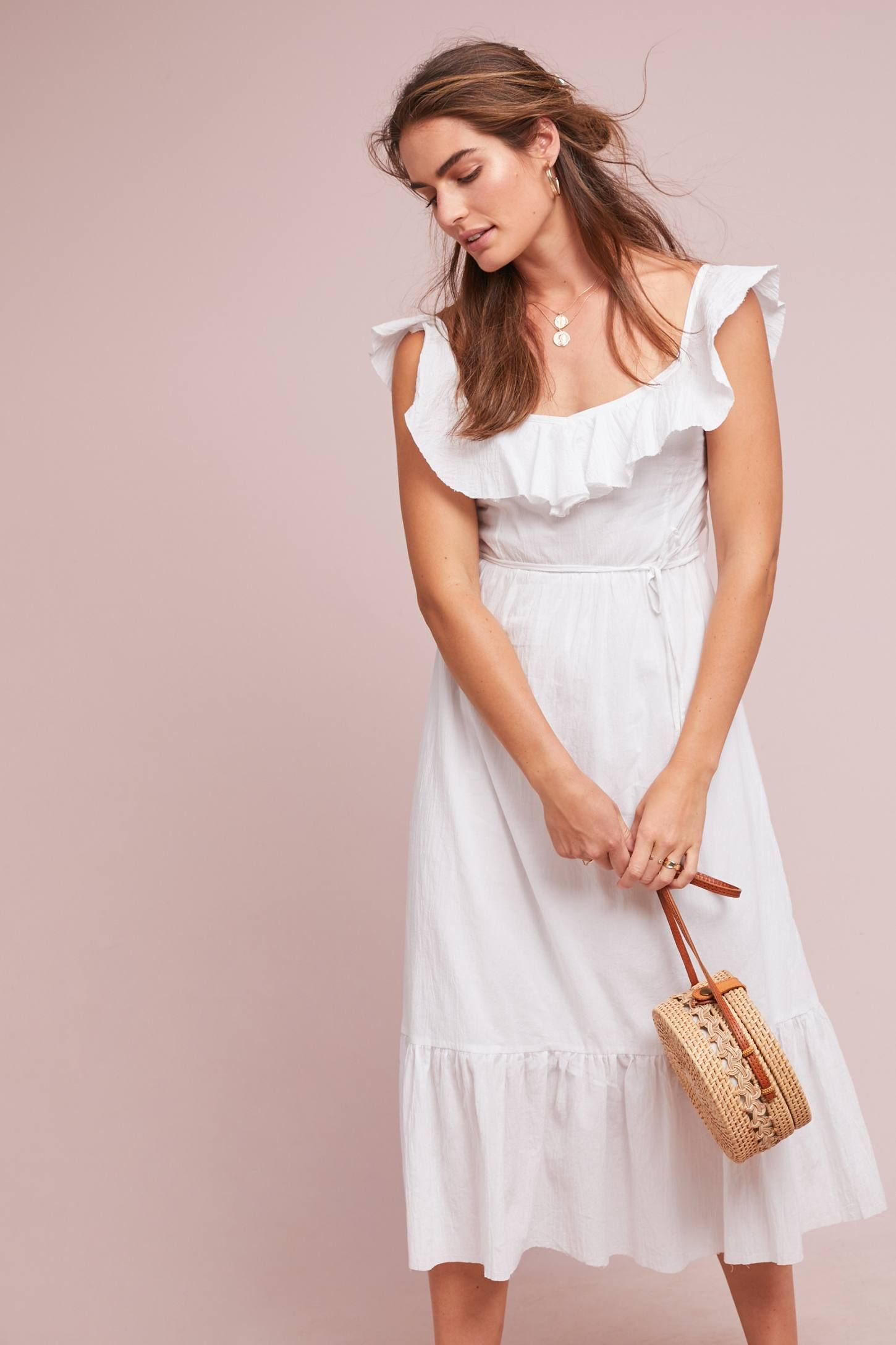 The Daily Hunt A Playful Faux Fur Bag And More Katie Considers Flutter Sleeve Dress Midi Dress With Sleeves Plus Size Wedding Guest Dresses [ 2175 x 1450 Pixel ]