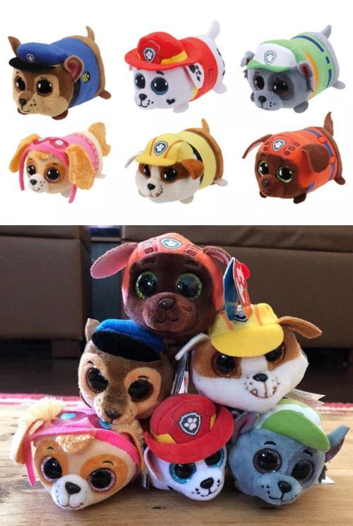 Other Ty Beanbag Plush 1037  Teeny Ty S Beanie Boos Stackable Plush Paw  Patrol Set Of 2db0a50fad68