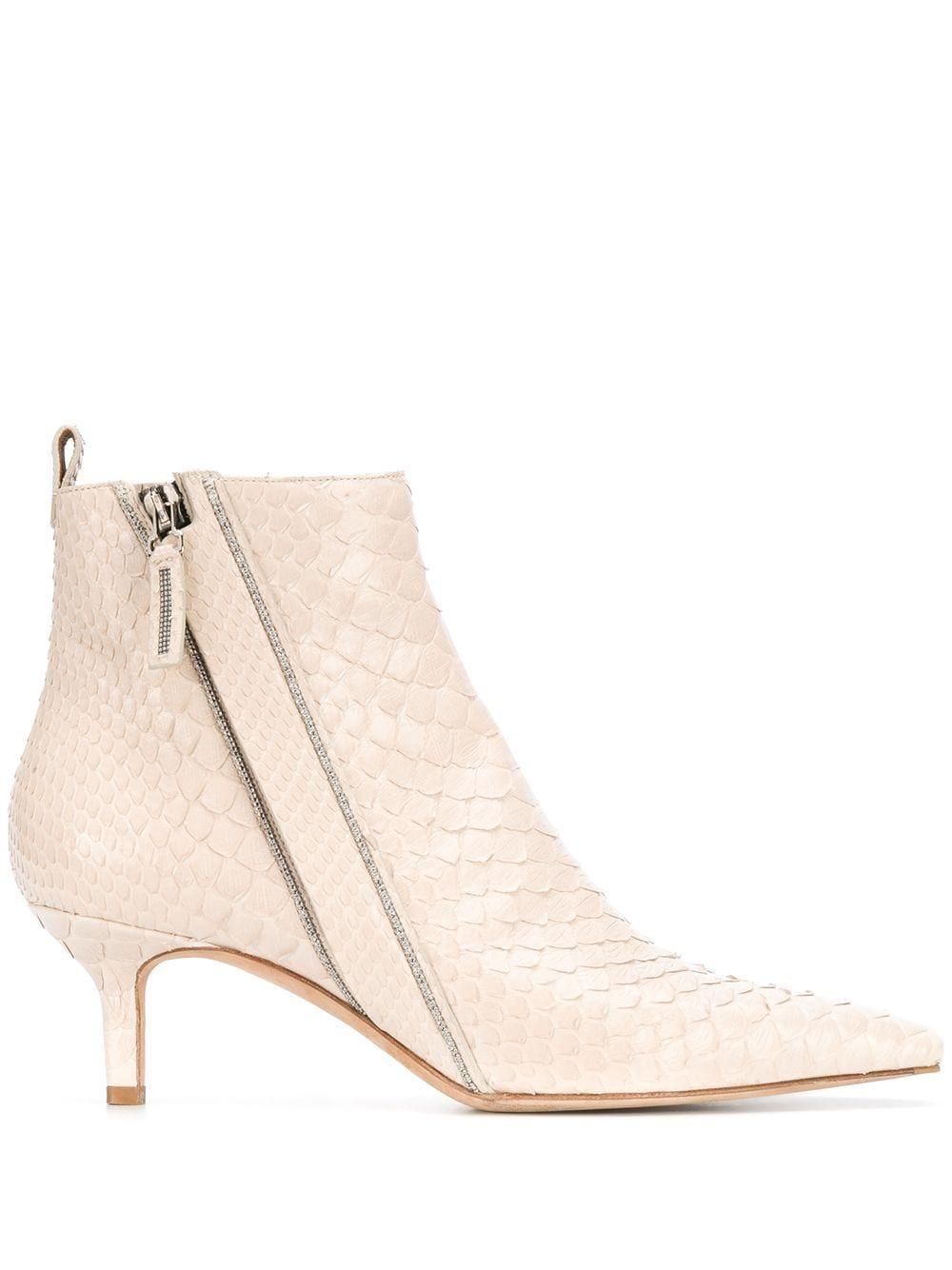 Brunello Cucinelli Embossed Kitten Heel Ankle Boots Brunellocucinelli Shoes In 2020 Kitten Heel Ankle Boots Boots Ankle Boots